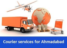 Courier services for Ahmadabad in Bhopal, India